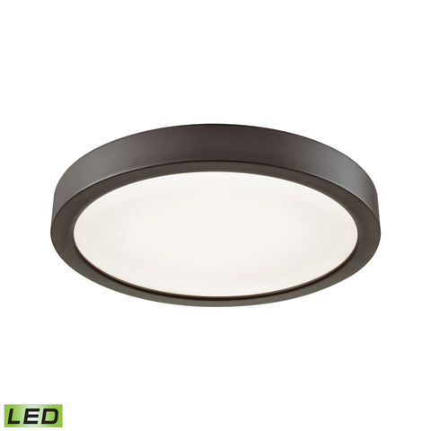 "Titan 8"" LED Flush In Oil Rubbed Bronze With A White Acrylic Diffuser"