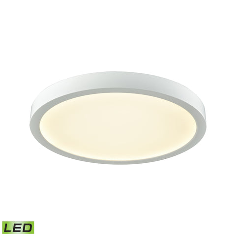 "Titan 10"" LED Flush In White With A White Acrylic Diffuser"