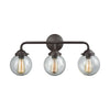 Beckett 3 Light Bath In Oil Rubbed Bronze And Clear Glass