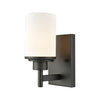 Belmar 1 Light Bath In Oil Rubbed Bronze With Opal White Glass