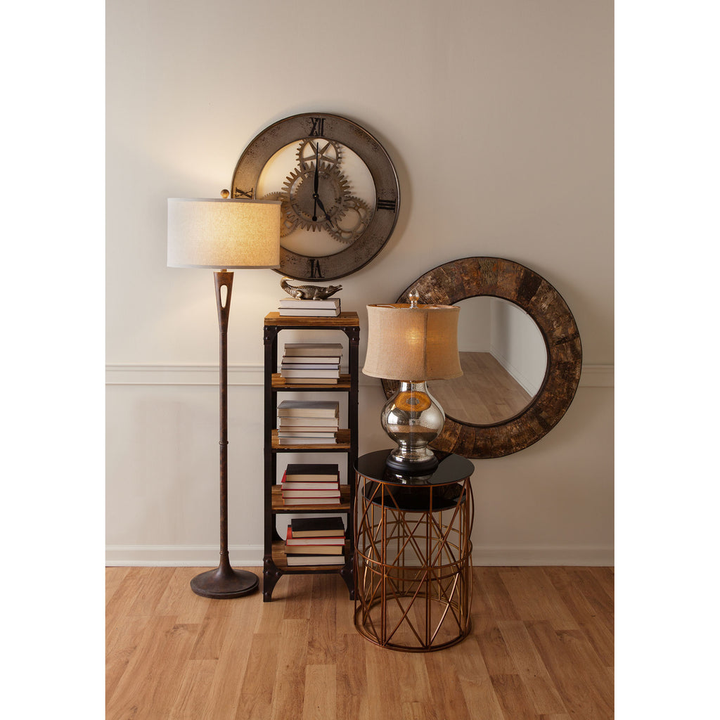 Martcliff Floor Lamp in Burnished Bronze