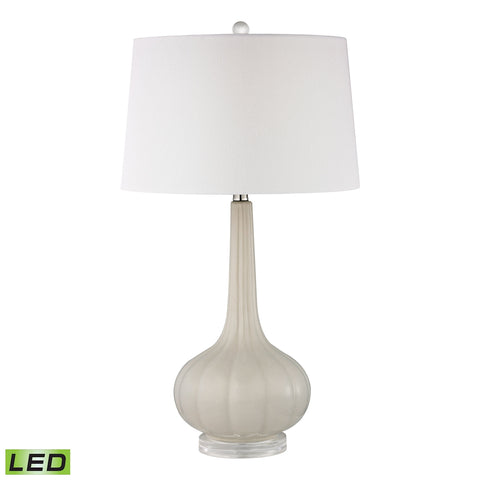 Abbey Lane Ceramic LED Table Lamp in Off White