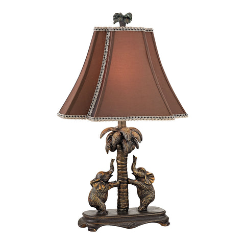 Adamslane Elephant Table Lamp in Bronze
