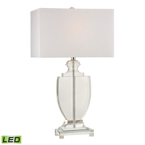 Avonmead Solid Clear Crystal LED Table Lamp