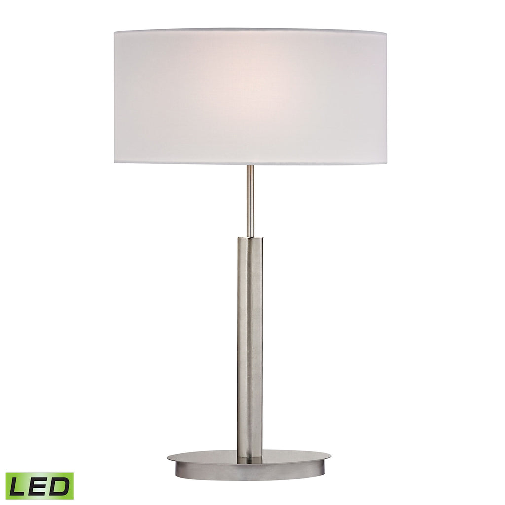 Port Elizabeth LED Table Lamp in Satin Nickel