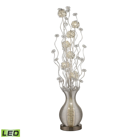 15W LED Contemporary Floral Display Floor Lamp in Silver Finish