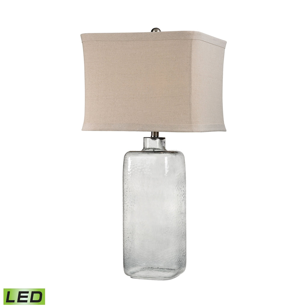 Hammered Grey Glass LED Lamp