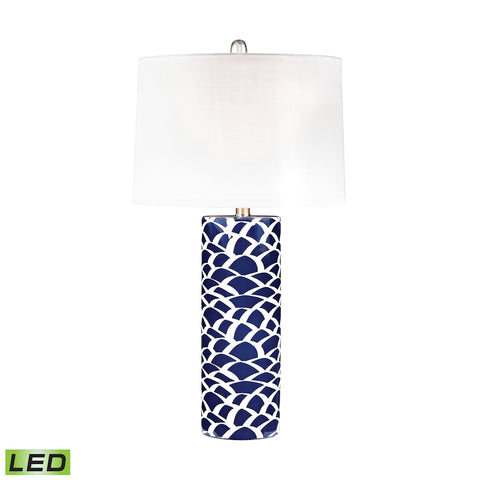 Scale Sketch LED Table Lamp In Blue And White