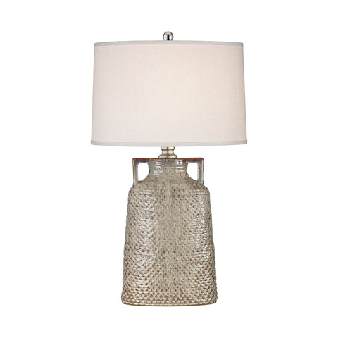 Naxos Table Lamp in Charring Cream Glaze