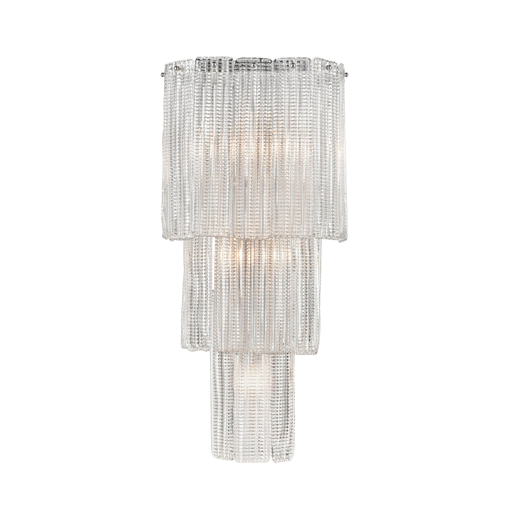Diplomat 5-Light Wall Sconce in Chrome