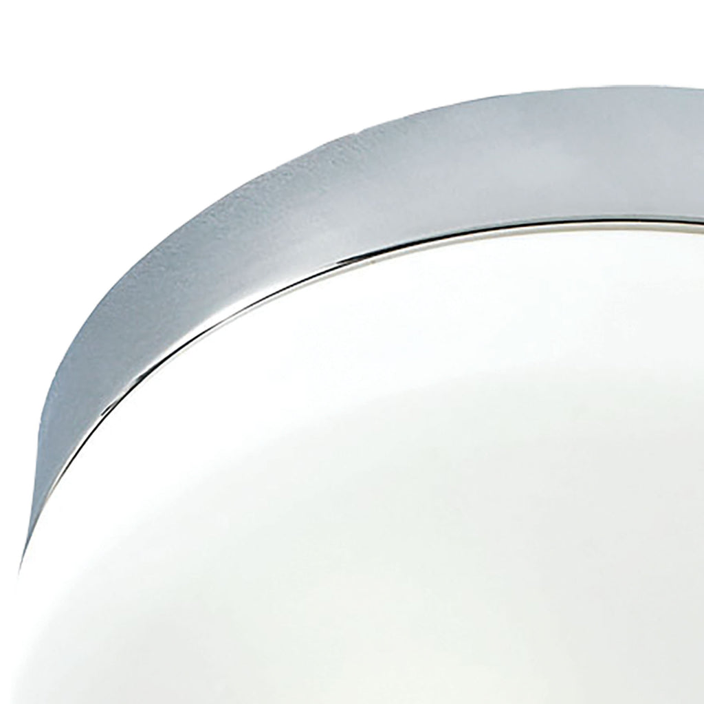 Disc 2-Light Flush Mount in Metallic Grey with White Opal Glass - Medium