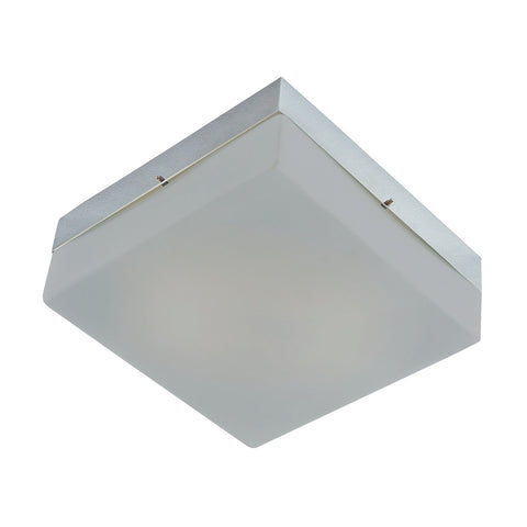 Quad Mini Flushmount Frosted glass/ Metallic Grey finish