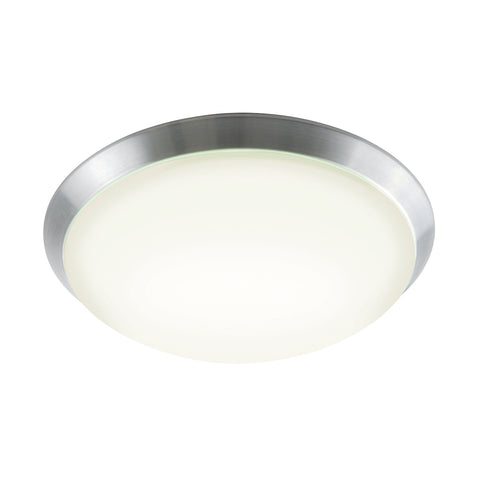 Luna 60-Light Flush Mount in Brushed Aluminum with Polycarbonate Diffuser - Integrated LED - Large