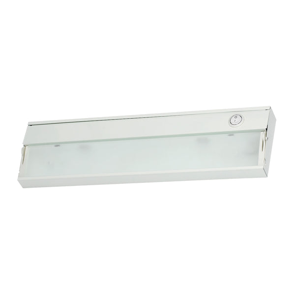 ZeeLite 1 Lamp Cabinet Light In White And Diffused Glass