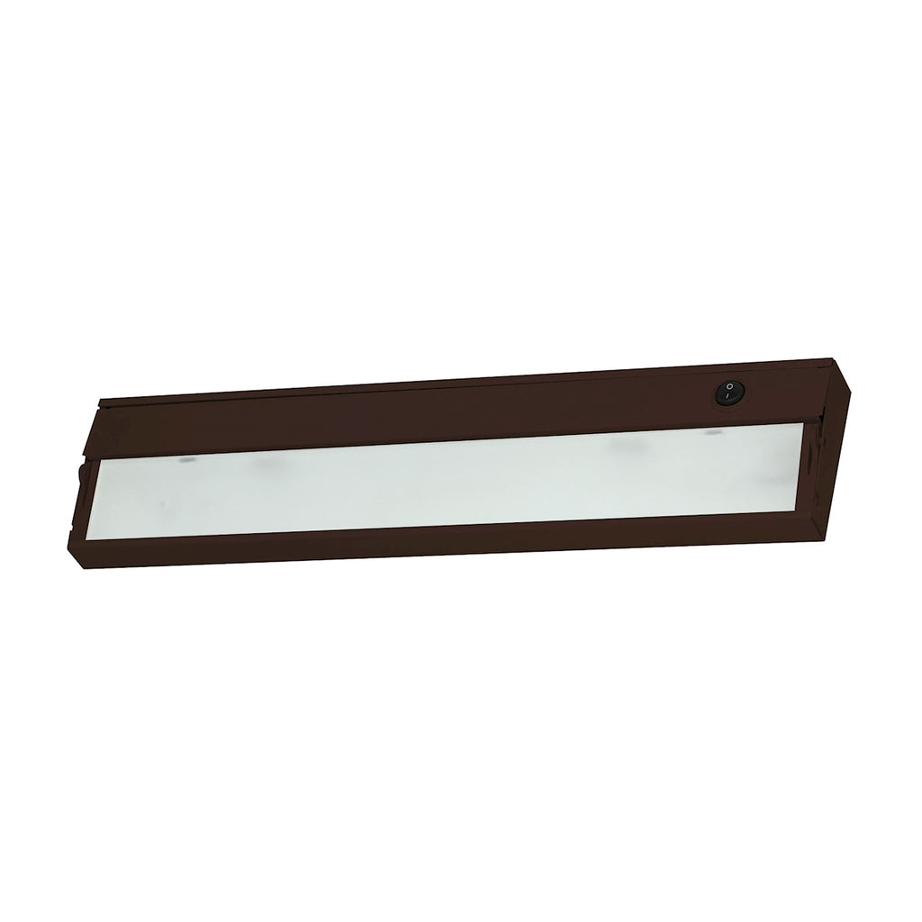 ZeeLite 2-Light Under-cabinet Light in Bronze with Diffused Glass