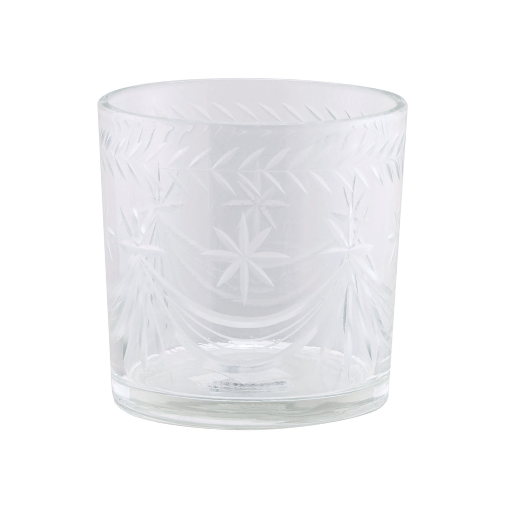 Glass Ice Bucket with Star Cut