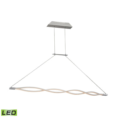 Twist LED Pendant - 36W with Alluminum Finish