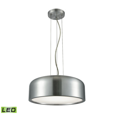 1 Light LED Pendant in Aluminum with Acrylic Diffuser