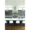 Quincy 1 Light LED Pendant In Chrome And Paint White Glass