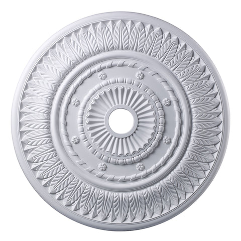 Corinna Medallion 33 Inch in White Finish
