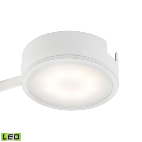 Tuxedo 1 Light LED Undercabinet Light In White With Power Cord And Plug