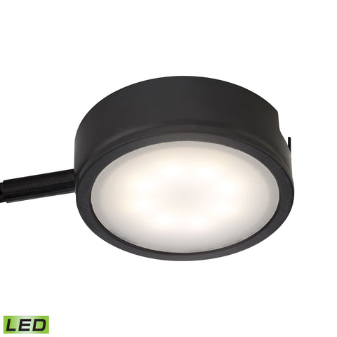 Tuxedo 1 Light LED Undercabinet Light In Black With Power Cord And Plug