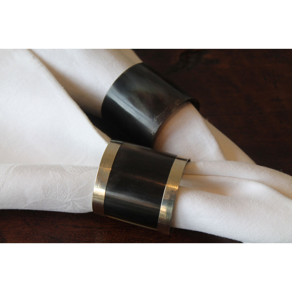 Horn Napkin Rings - Metal Band (Set of 4)