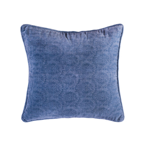 Bombay Damask Red 20x20 Hand-Printed Reversible Pillow in 100% Cotton