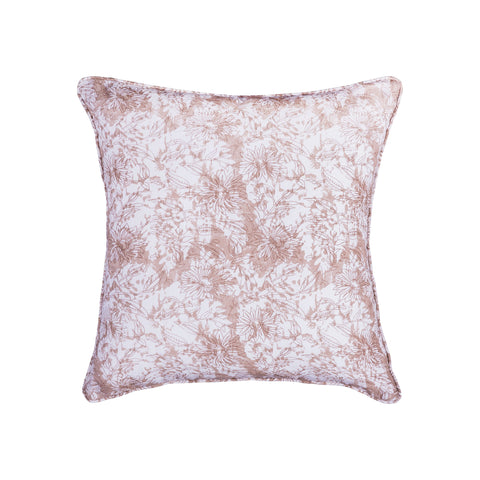 Block Print 20x20 Hand-Printed Reversible Pillow in 100% Cotton - COVER ONLY