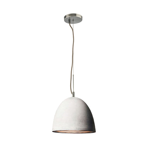 Castle 1-Light Pendant in Chrome with Cement Shade