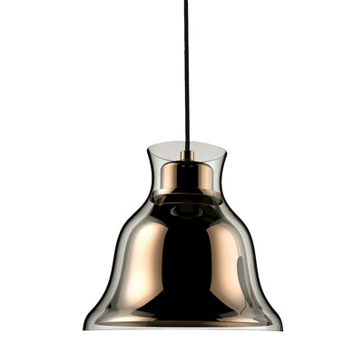 Bolero Clear Glass Shade C/W Gold Metal Shade