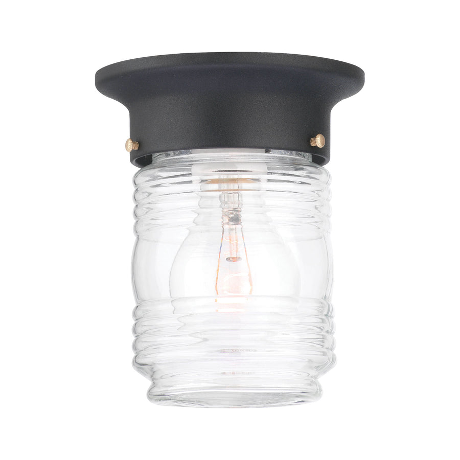 PARK AVENUE ceiling lamp Black 1x60W 120