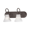 ELIPSE wall lamp Painted Bronze 2x100W