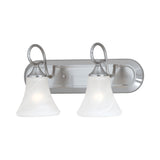 ELIPSE wall lamp Brushed Nickel 2x100W