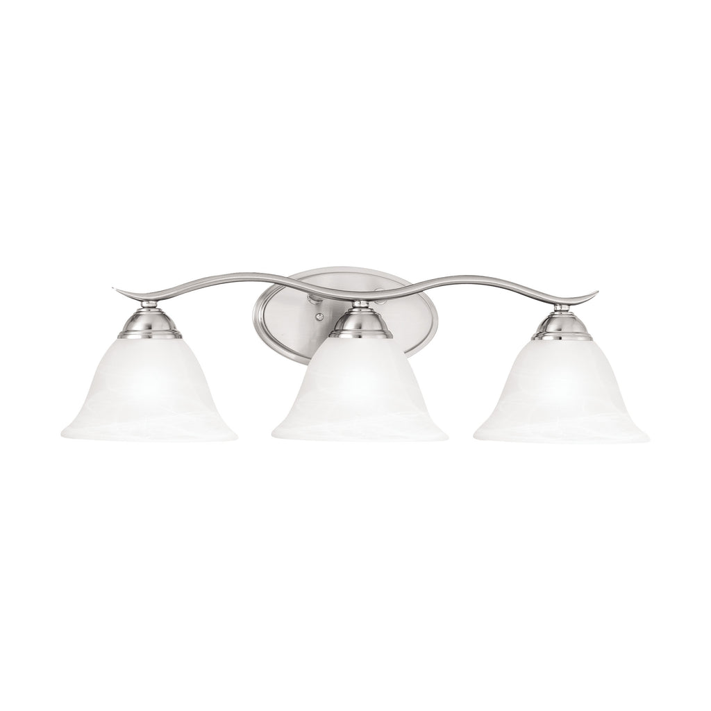 PRESTIGE wall lamp Brushed Nickel 3x100