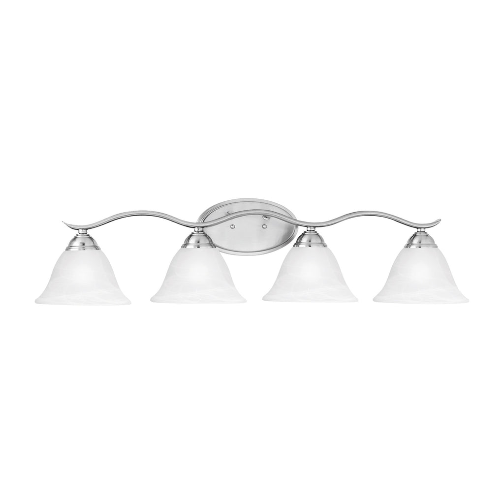 PRESTIGE wall lamp Brushed Nickel 4x100