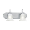 HOMESTEAD wall lamp Brushed Nickel 2x100