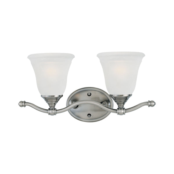 HARMONY wall lamp Satin Pewter 2x100W