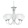 TAHOE chandelier Brushed Nickel 5x100W