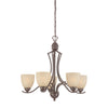 TRITON chandelier Sable Bronze 5x100W