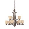TRITON chandelier Sable Bronze 9x100W
