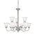 RIVA chandelier Brushed Nickel 9x60W 120