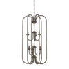 BELLA chandelier Oiled Bronze 6x60W 120