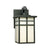 MISSION wall lantern Black 1x100W 120V