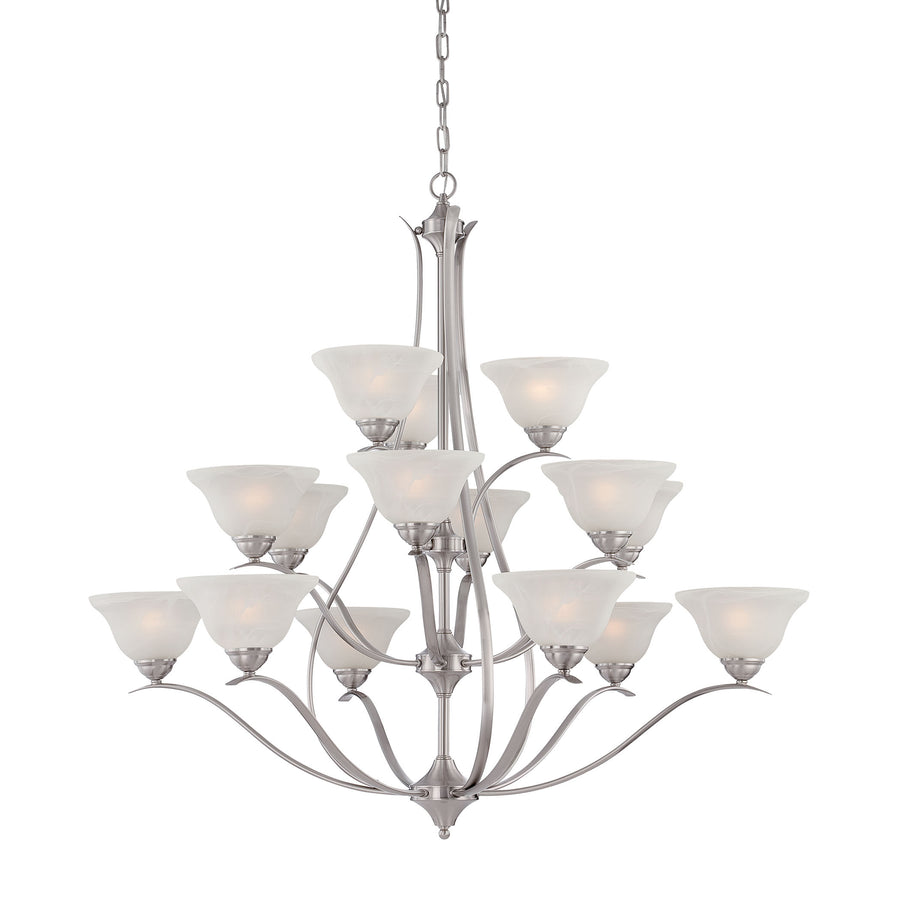 PRESTIGE chandelier Brushed Nickel 15x40