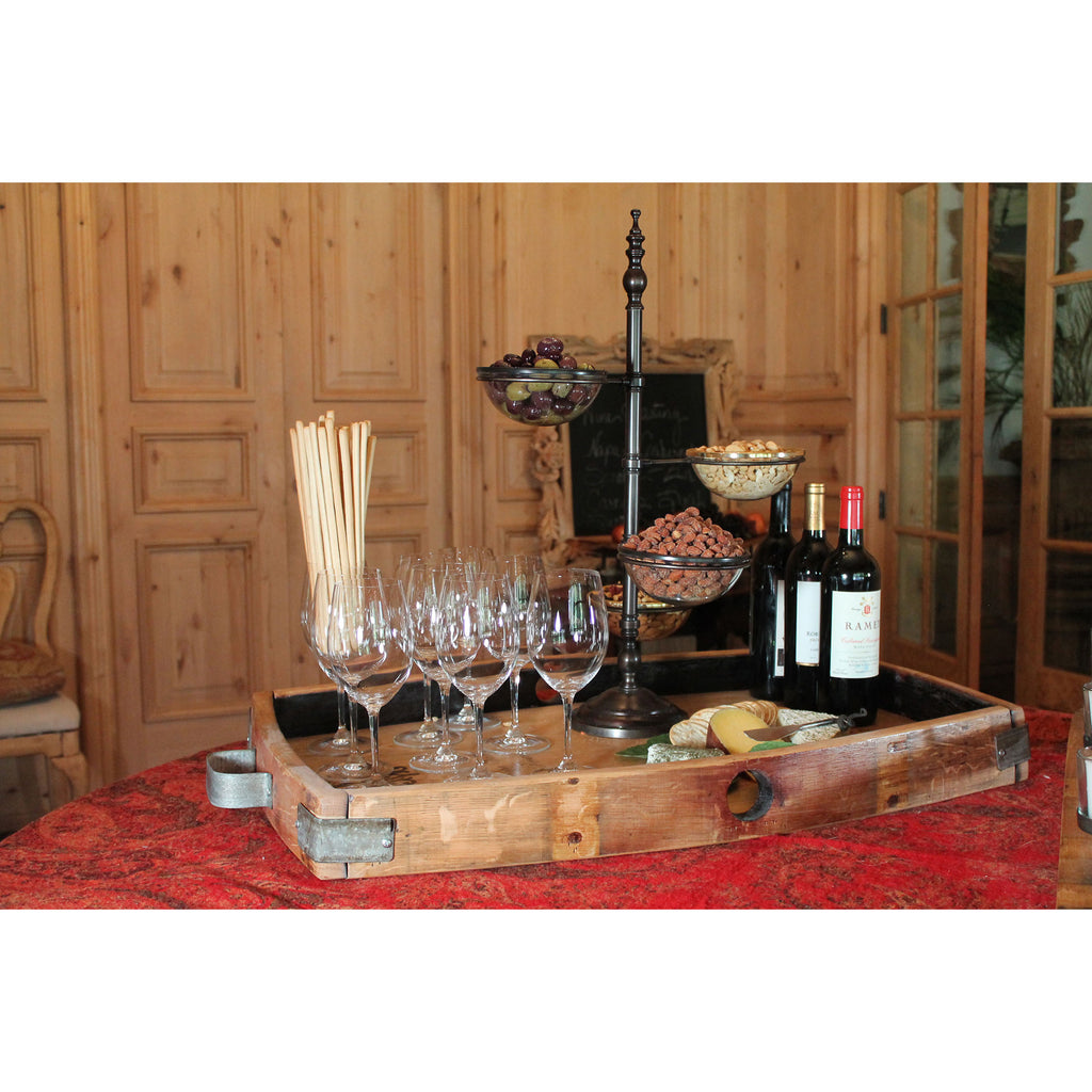 WB Large Wine Stave Serving Tray