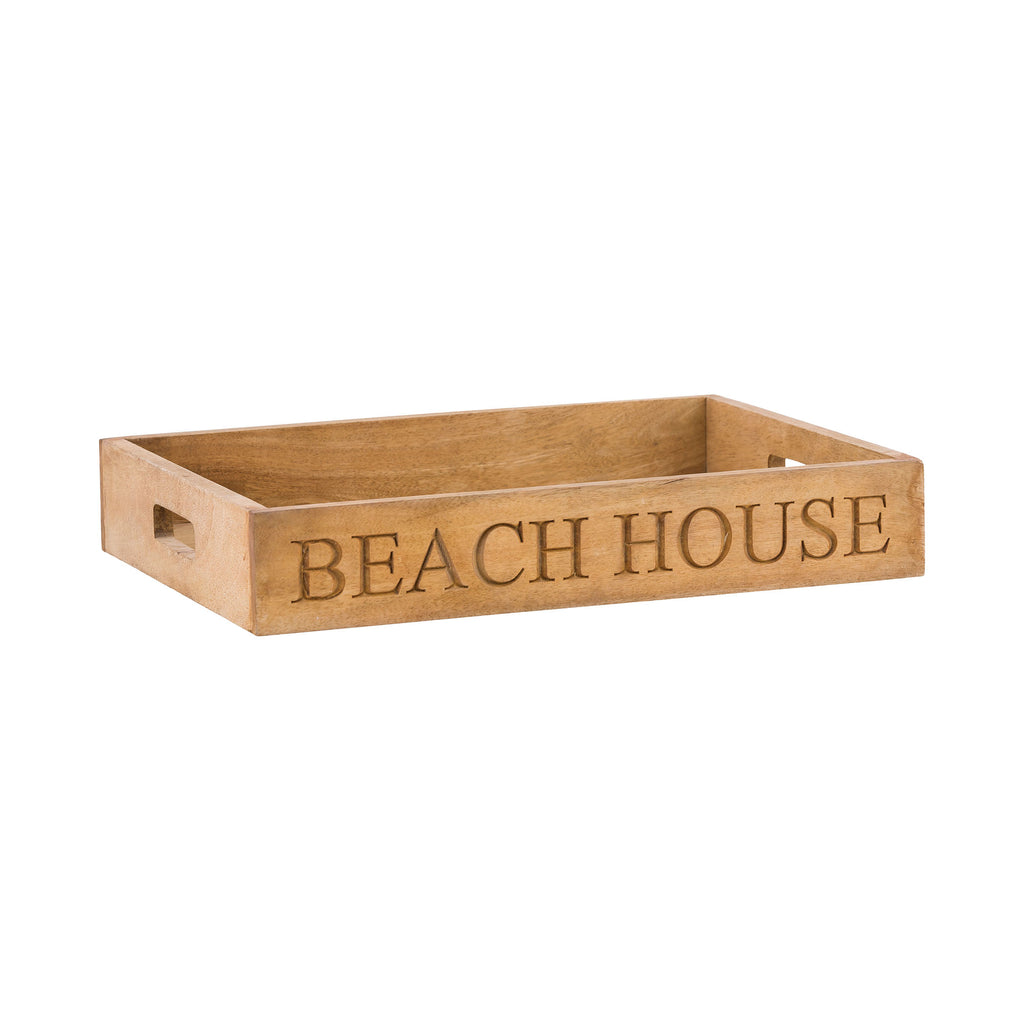 Beach House Chiseled Tray in Natural Mango