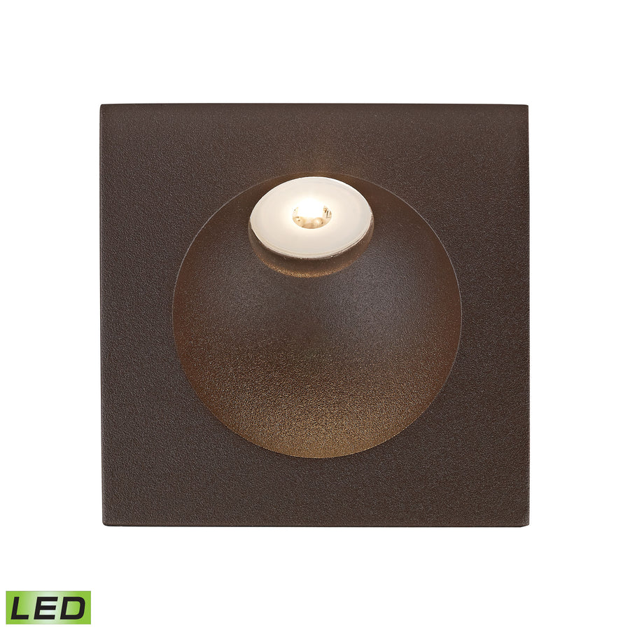 Zone LED Step Light In Matte Brown