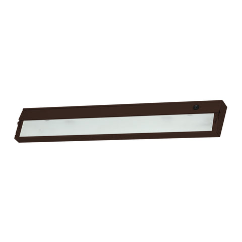 ZeeLine 3 Lamp Xenon Cabinet Light In Bronze With Diffused Glass
