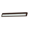 ZeeLine 4 Lamp Xenon Cabinet Light In Bronze With Diffused Glass